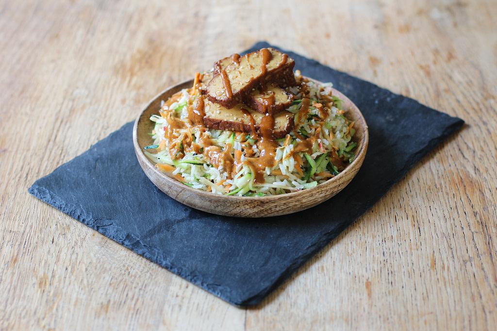 Spicy Peanut Asian Brown Rice Salad
