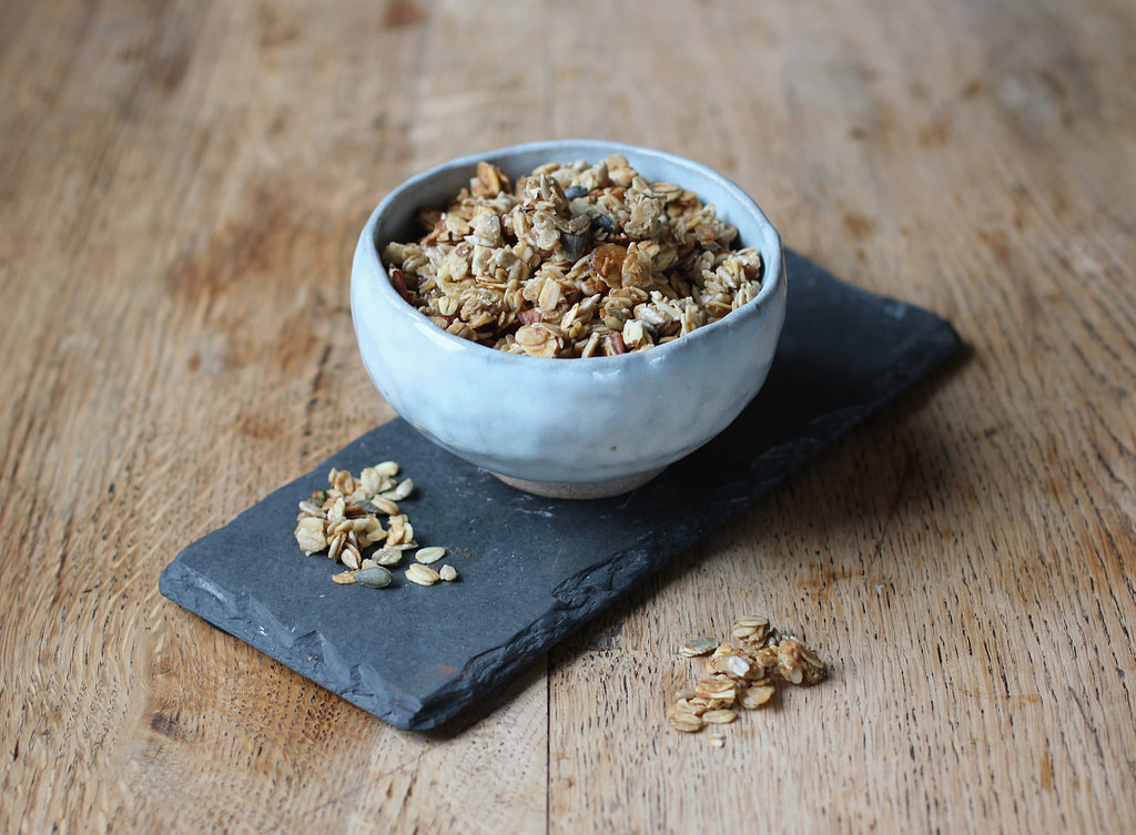 coil pot with granola