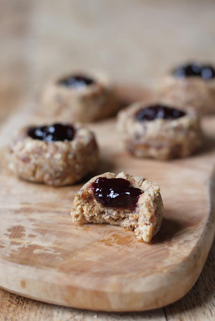 cherry almond thumbprint cookies